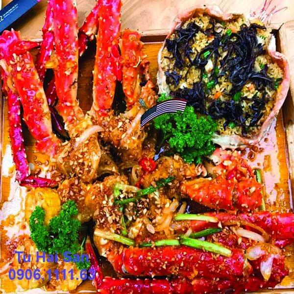 cua king crab hấp